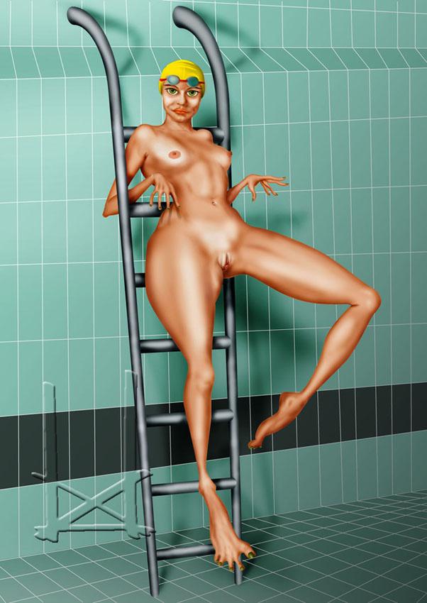 La Femme Grenouille Peinture Numérique Erotique  BUD
